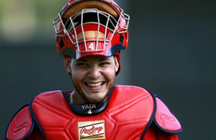 Yadi Signed Mask to Benefit Salvation Army