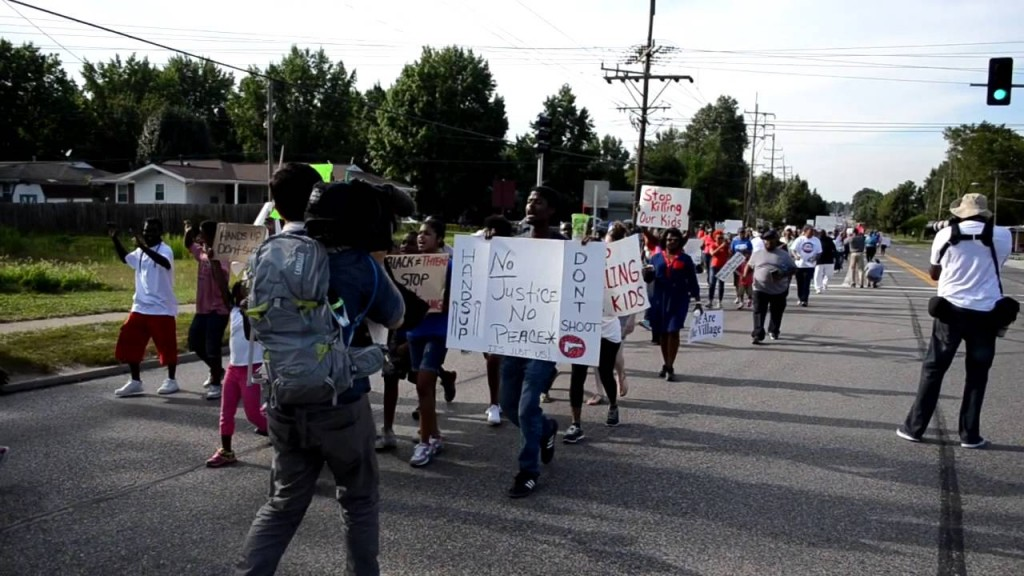 Michael Brown March In Ferguson