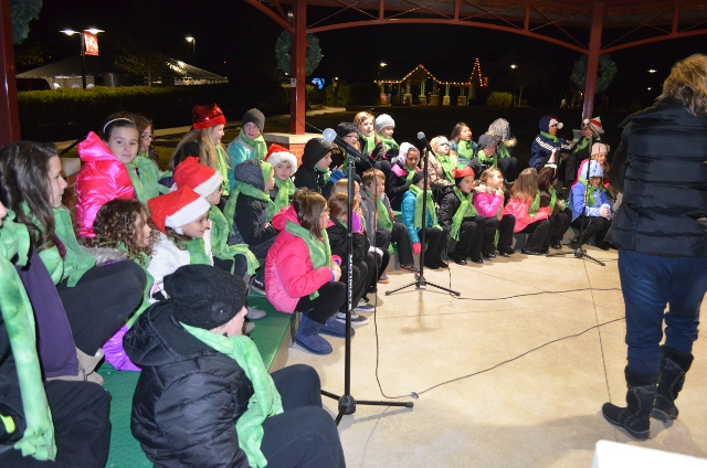 The childrens choir at the Salvation Army Tree of Lights Kick Off event at the Dardenne Prairie City Hall on Saturday evening November 21st 2015